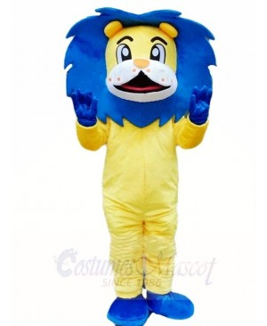 Blue Mane Lion Mascot Costumes Animal