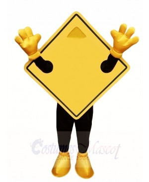 Yellow Guideboard Street Nameplate Mascot Costumes