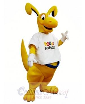 Yellow Kangaroo Mascot Costume Roo Mascot Costumes