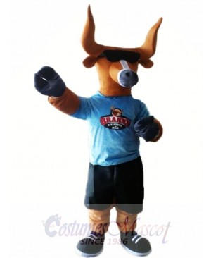 Bull with Sunglasses Mascot Costumes