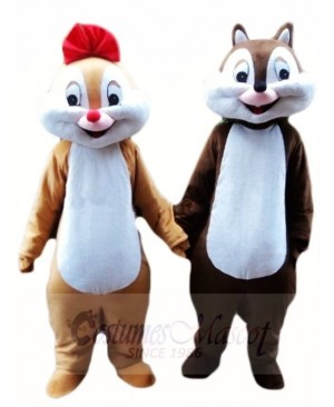 Chip and Dale Chipmunk Squirrel Mascot Costumes Animal