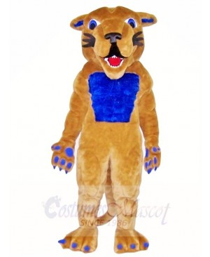 Cougar Mascot Costumes with Blue Muscle Animal