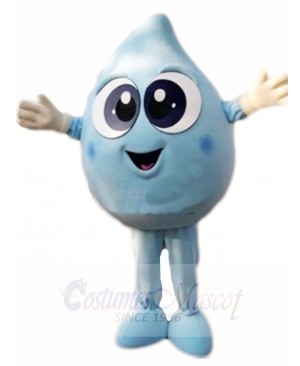 Blue Water Droplet Mascot Costumes