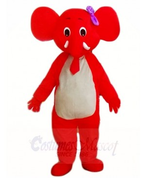 Red Elephant Mascot Costumes Animal