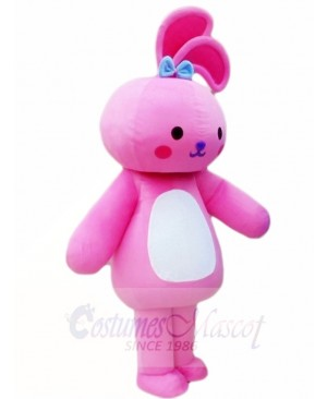 Pink Rabbit Bunny Mascot Costumes Animal