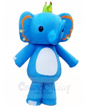 Blue Elephant King Mascot Costumes Animal