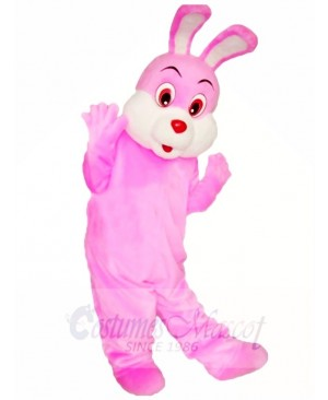Pink Easter Bunny Rabbit Mascot Costumes Animal