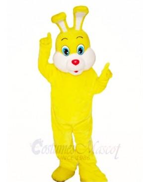 Yellow Easter Bunny Rabbit Mascot Costumes Animal