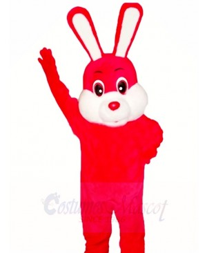 Red Easter Bunny Rabbit Mascot Costumes Animal