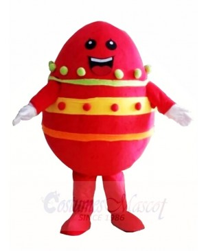 Red Paschal Easter Egg Mascot Costumes