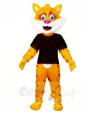 Yellow Fat Cat Mascot Costumes Animal