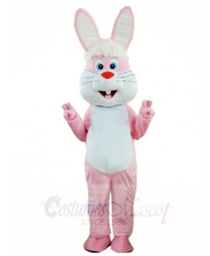 Funny Pink Rabbit Easter Bunny Mascot Costumes Animal