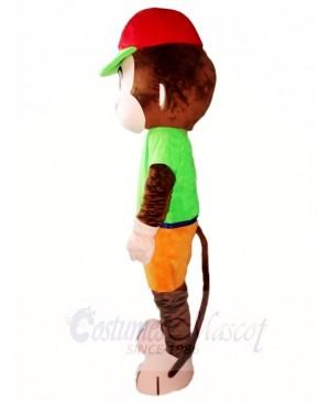 Red Hat Monkey Mascot Costumes Animal