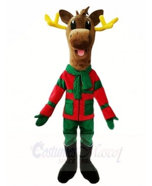 Dark Brown Christmas Deer Moose Mascot Costumes Animal