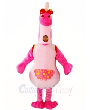 Pink Dinosaur with Spikes Mascot Costumes Animal
