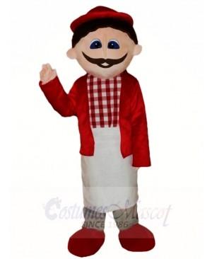 Red Shirt Man Mascot Costumes People