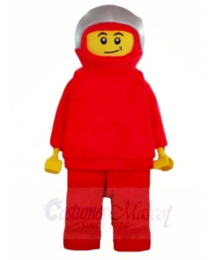Red Lego Robot Man Mascot Costumes Cartoon
