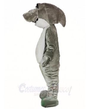 Cute Grey Shark Mascot Costumes Sea Ocean