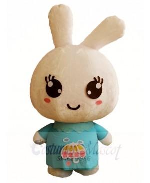 Blue Shirt Rabbit Easter Bunny Mascot Costumes Animal