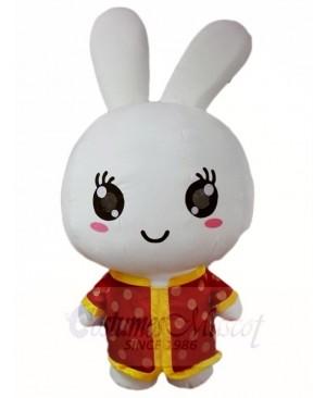 Red Shirt Rabbit Easter Bunny Mascot Costumes Animal