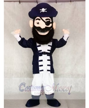 Redbeard Pirate in Navy Blue Mascot Costumes