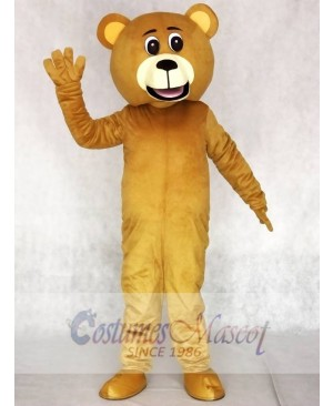 Realistic New Popular Professional Light Brown Lucky Bear Mascot Costume