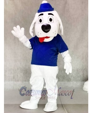 Slush Puppie Dog with Blue Shirt Mascot Costume Animal