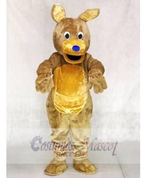 Blue Nose Brown Kangaroo Mascot Costumes Animal