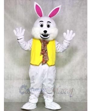 Wendell White Vest Rabbit Easter Bunny Mascot Costumes Animal