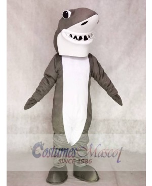 Gray and White Shark Mascot Costumes Ocean