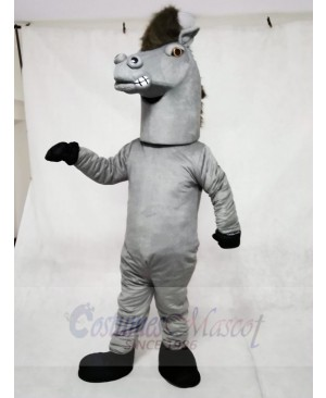 Gray Pepper Wild Stallion Horse Mascot Costumes Animal