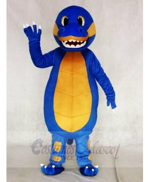 Blue Dinosaur with Yellow Belly Mascot Costumes Animal