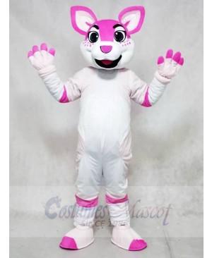 Pink Husky Dog Fursuit Mascot Costumes Animal