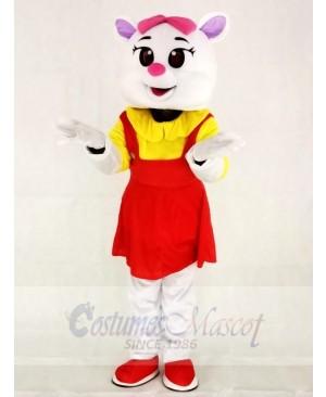 Red Female Cat Mascot Costumes Animal
