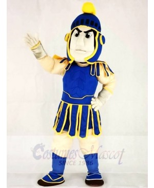 Blue and Yellow Spartan Trojan Knight Sparty Mascot Costumes People