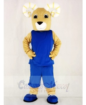 Power Sport Rams in Blue Suit Mascot Costumes Animal