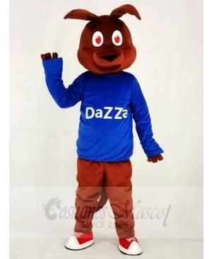 Kangaroo in Blue Shirt Mascot Costumes Animal