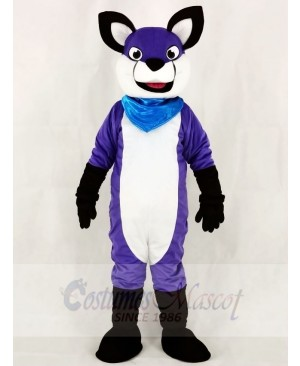 Fursuit Purple Wolf Husky Dog Mascot Costumes Animal