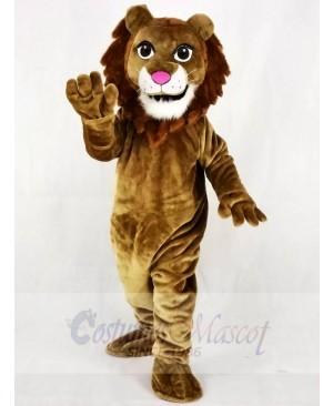 Realistic Friendly Lion Mascot Costume Animal