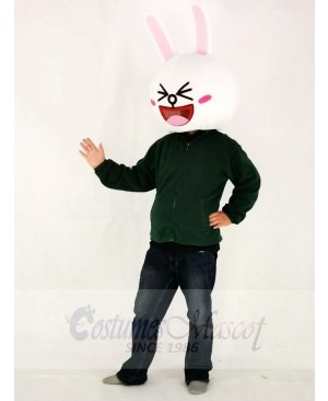 Grinning Cony Rabbit Bunny Mascot HEAD ONLY Line Town Friends