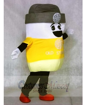 Marshmallow Mascot Costumes with Grey Hat Snack