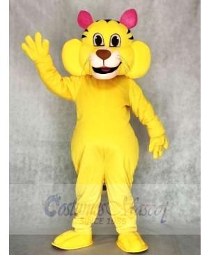 Cute Big Yellow Yeller Cat Mascot Costumes Animal