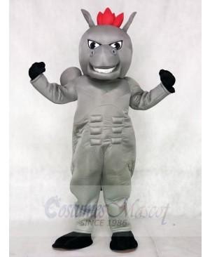 Gray Power Horse Mascot Costumes Animal