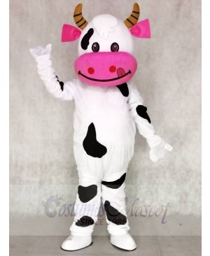 Pink Ear Cow Mascot Costumes Animal