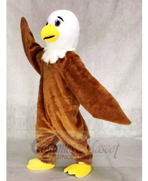 White Head Friendly Eagle Mascot Costume