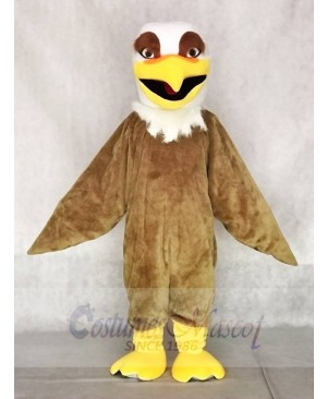 Fierce White Head Brown Hawk Falcon Eagle Mascot Costumes