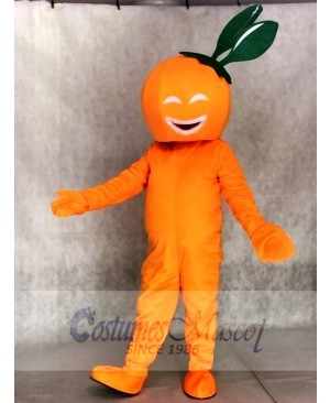 Smiling Navel Orange Mascot Costumes Fruit Plant
