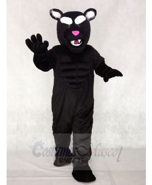 Black Muscle Panther Mascot Costumes Animal