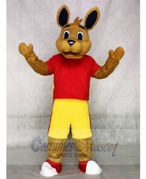 High Quality Red Shirt Kangaroo Mascot Costumes Animal