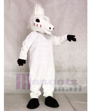 Cute White Horse Mascot Costumes Animal